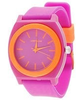 Airwalk Quartz Plastic and Silicone Casual Watch, Color:Pink (Model: AWW-5096-PK)