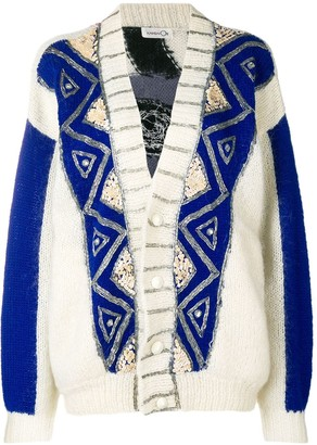 Kansai Yamamoto Pre-Owned embroidered loose fit cardigan