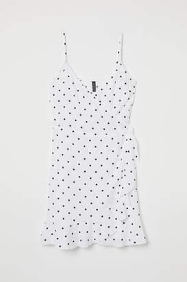 H&M Flounced Wrap Dress - White