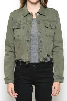 Hidden Jeans DISTRESSED & OUT MILITARY JACKET