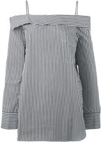 Robert Rodriguez off-shoulders striped blouse - women - Cotton - 4