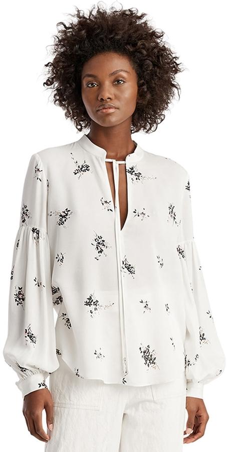 A.L.C. Ty Floral Silk Blouse