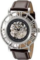 Akribos XXIV Men's AK551SS Stainless Steel Automatic Skeleton Strap Watch