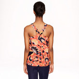 J.Crew Tall twist-back top in hibiscus floral