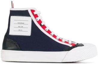 Thom Browne RWB-stripe high-top sneakers