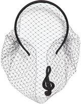 RED Valentino Music Note Silk Satin Headband With Veil