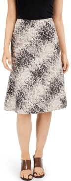 INC International Concepts Inc Earth Snake-Print Midi Skirt, Created for Macy's