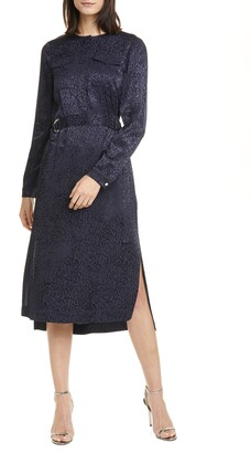 Ted Baker Kinzley Long Sleeve Animal Jacquard Dress