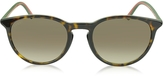 Gucci GG 1102/S Acetate Round Sunglasses w/Red & Green Temples