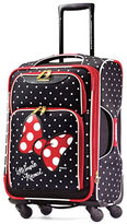 American Tourister Mouse Bow and Dotted Graphic Softside Spinner- 21 in.