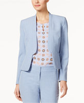 Nine West Band-Lapel Blazer