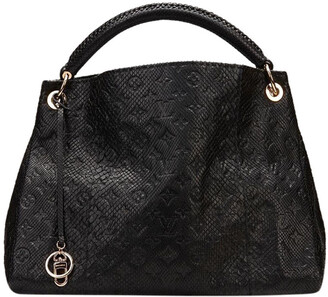 Louis Vuitton Noir Python Limited Edition Artsy MM Bag