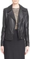 Max Mara 'Ginepro' Lambskin Leather Jacket