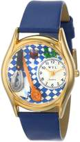 Whimsical Watches Women's C0630009 Classic Gold Chef Royal Blue Leather And Goldtone Watch
