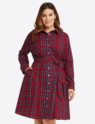 Draper James Carly Shirt Dress in Angie Plaid