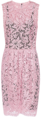 Dolce & Gabbana Gathered Corded Lace Mini Dress