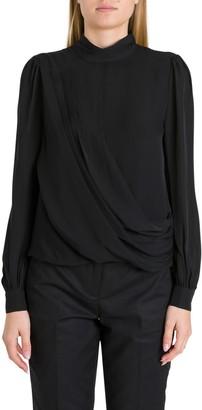 MICHAEL Michael Kors Silk Blouse With Draping Detail