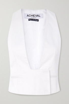 ÀCHEVAL PAMPA Gardel Cotton-blend Vest - White