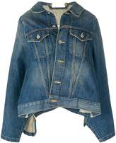 Junya Watanabe denim cape jacket