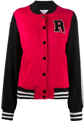 RED Valentino embroidered Varsity jacket