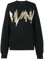 Balmain heavy metal logo sweatshirt - women - Cotton - 36
