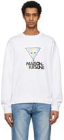 MAISON KITSUNÉ Off-White Rainbow Triangle Fox Sweatshirt