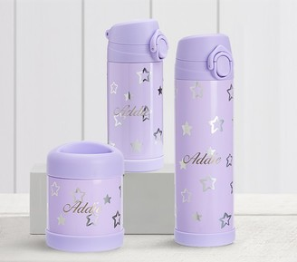 Pottery Barn Kids Mackenzie Lavender Shine Stars Hot & Cold Container