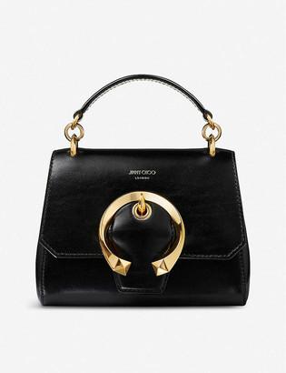Jimmy Choo Madeline top handle leather shoulder bag