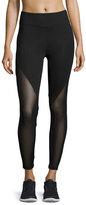 Koral Activewear Lucent Mid-Rise Mesh-Panel Athletic Leggings, Black
