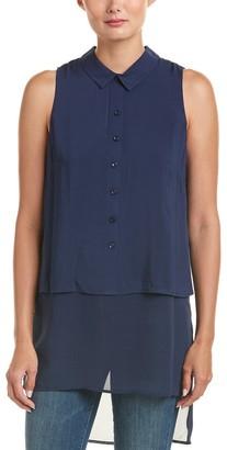 BCBGeneration Women's Chiffon Shirttail Sleeveless Shirt