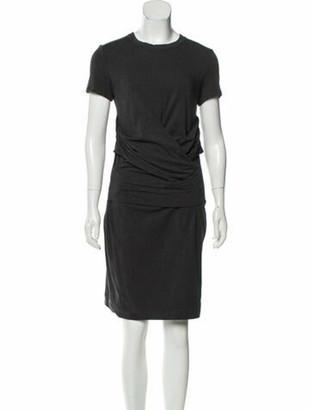 Brunello Cucinelli Short Sleeve Mini Dress grey