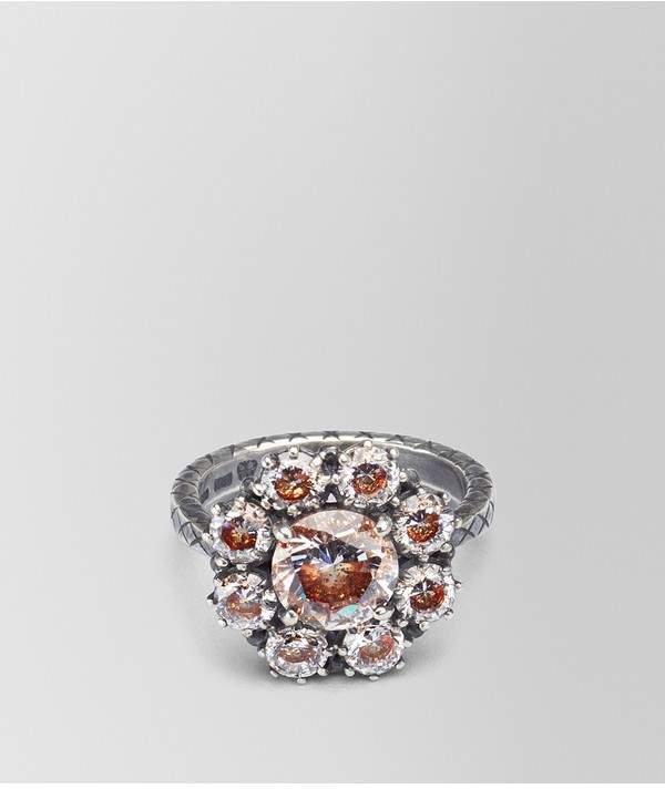 Bottega Veneta Ring Zirconia And Enamel