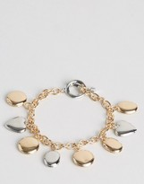 Asos Locket Charm Toggle Bracelet