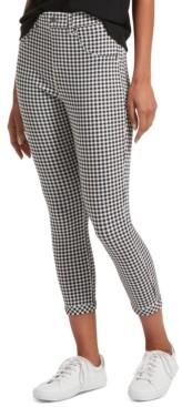 Hue Women's Gingham-Print Ultra Soft Denim High-Waist Capri Leggings