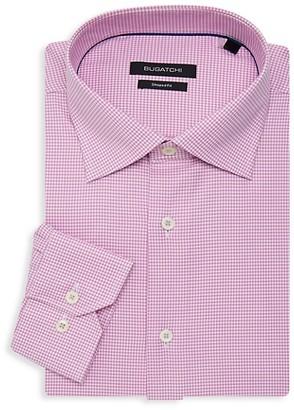 Bugatchi Shaped-Fit Gingham Dress Shirt