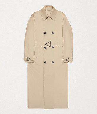 Bottega Veneta Trench Coat In Cotton Gabardine