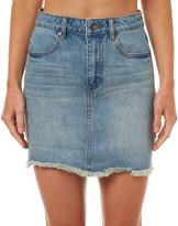 Rip Curl Womens Nellie Denim Skirt Blue