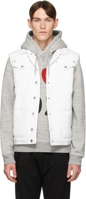 DSQUARED2 White Canvas Puffer Vest