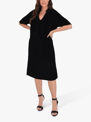 Live Unlimited Curve Velvet Cocoon Dress, Black