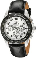 Invicta Men's Speedway Chronograph Silver Dial Leather Watch 10708