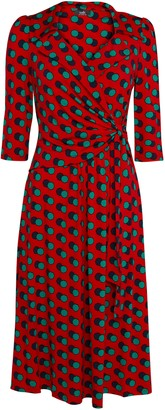 Wallis **Jolie Moi Red Polka Wrap Dress