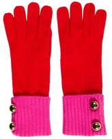 Kate Spade Button-Accented Colorblock Gloves