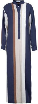 A Line Clothing Long Multistripe Overshirt Dress