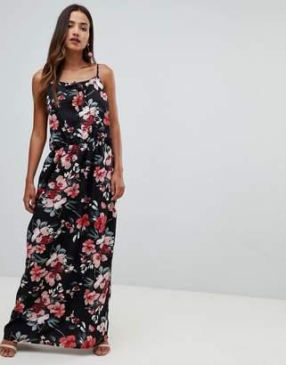 Girl In Mind high neck floral split maxi dress-Multi