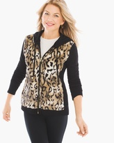 Chico's Knit Collection Faux Fur-Front Jacket