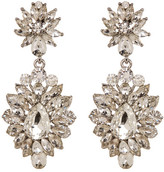 Natasha Accessories Glitz Chunky Crystal Cluster Drop Earrings