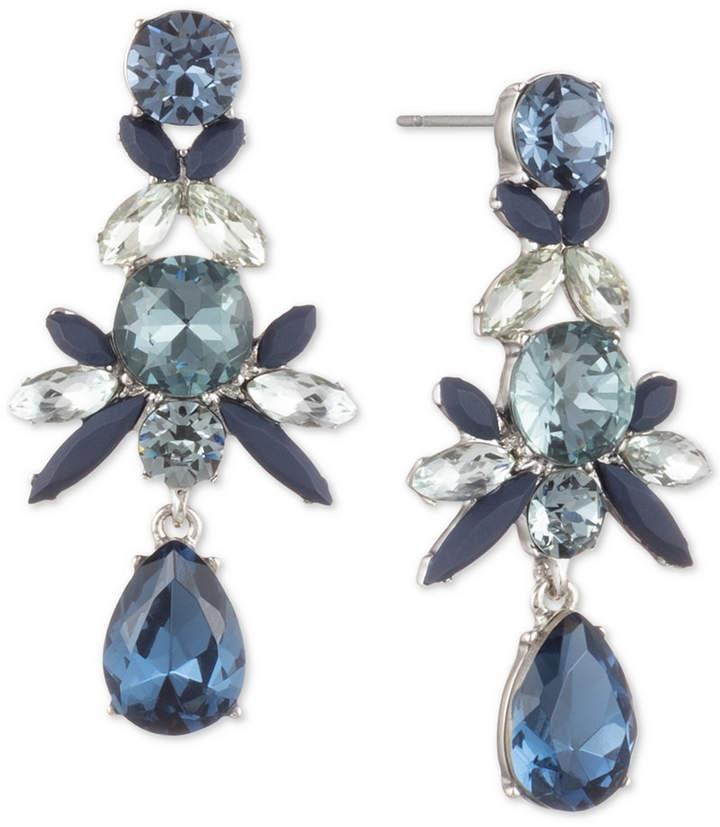 2f66ef6ad7431 Crystal Cluster Linear Drop Earrings