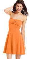Planet Gold Juniors Dress, Strapless Cutout Skater