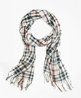 Brooks Brothers Two-Tone Plaid Scarf