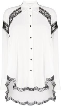Ermanno Scervino Lace-Trimmed Shirt
